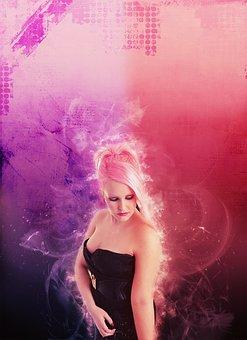 Girl, Hair, Woman, Trick, The Pink Hair, Disco, Models