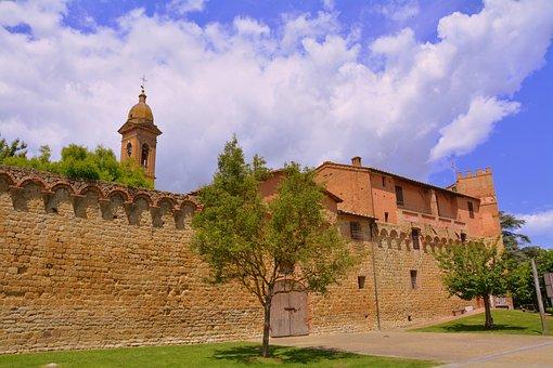 Borgo, Wall, Ancient, Architecture, Tuscany, Siena