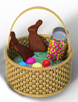 Easter, Osterkorb, Chocolate Bunnies, Easter Bunny