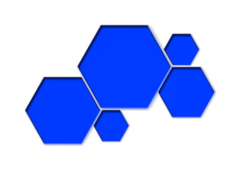 Honeycomb Form, Combs, Blue, Elements