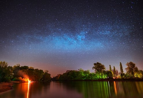 Milky Way, Milkyway, Lake Constance, Star, Night Sky
