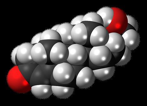 Dihydroprogesterone, Molecule, Steroid, Model