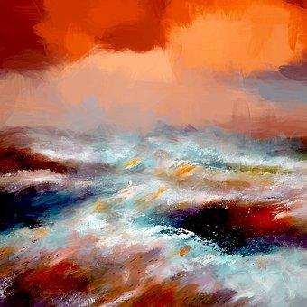 Forward, Sea, Agitated, Water, Ocean