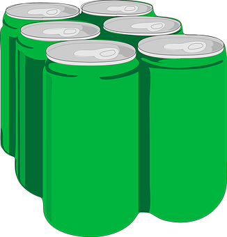 Beverage, Soda, Cans, Tins, Green, Six-pack, Beer