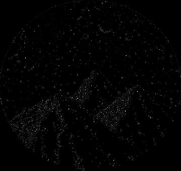 Mountains, 3, Moon, Stars, Night, Sky, Falling, Star
