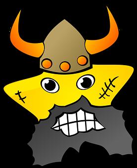 Barbar, Viking, Man, Star, Person, Yellow, Bear