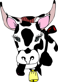 Head, Cow, Bell, Animal, Tongue