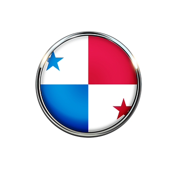 Panama, Flag, Circle, Country, Red