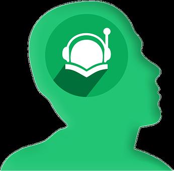Icon, Head, Profile, Headphones, Book, Read, Ebook