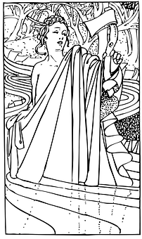 Woman, Female, Roman, Greek, Axe, Hatchet, Chiton