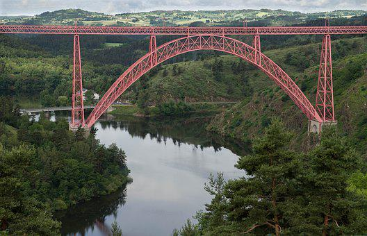Cantal, Viaduct, River, Bridge, Eiffel