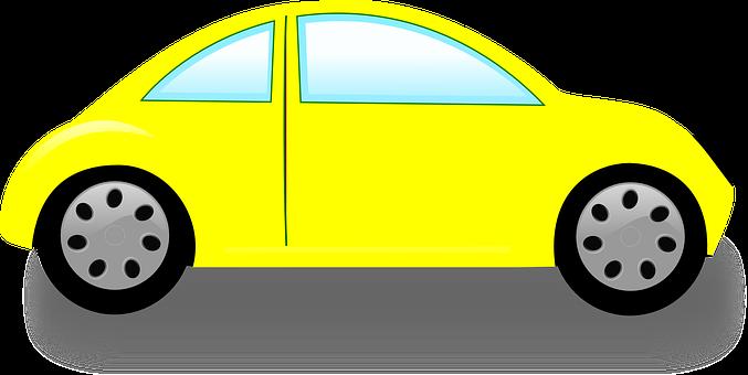 Vw Beetle, Volkswagen, Car, Yellow, Automobile, Auto