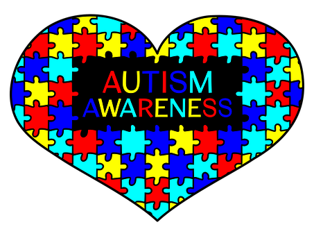 Heart, Autism Awareness, Support, Love