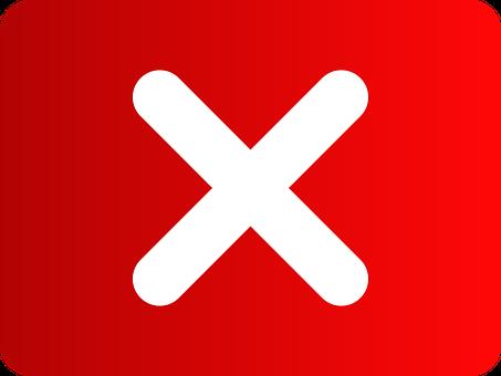 Button, Cancel, Key, Cross, Red, Close