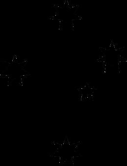 Stars, Black, Silhouette, Astronomy, Dark, Starry