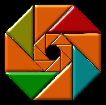 Color, Desin, Orange, Blue, Red, Colorful, Wheel