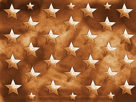 Stars, Brown, Background, Shiny, Shining, Shapes