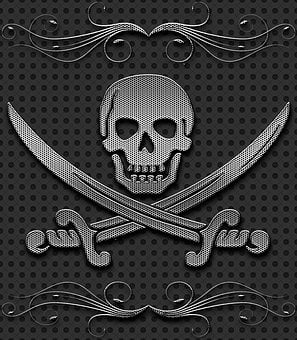 Skull, Metal, Background, Carved, Graphic, Decorative