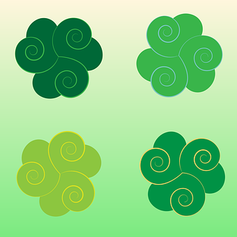Green, Elements, Ireland, Celtic, Triskell