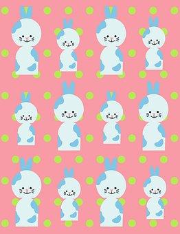 Bunny, Rabbit, Easter, Kids, Children, Fun, Pattern