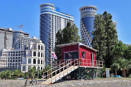 Georgia, Batumi, Adjara, Beach, City, Resort