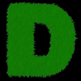 Letter D, Letter, D, Alphabet, Green, Grass, Prato