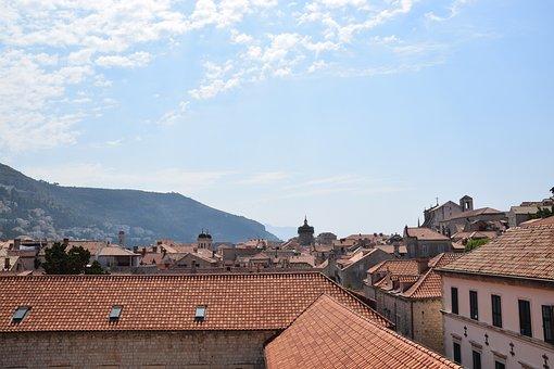City, Croatia, Europe, Sky, Hill