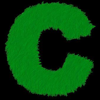 Letter C, Letter, C, Alphabet, Green, Grass, Prato