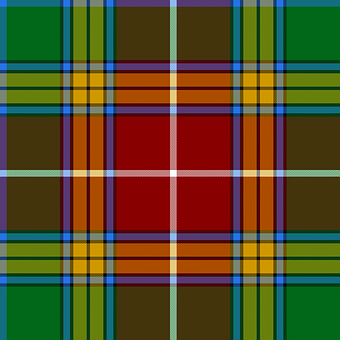 Tartan, Baxter, Scottish, Graphic, Green, Ornament