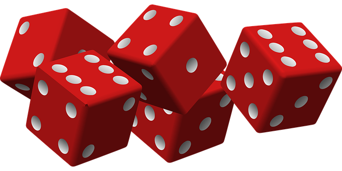 Dice, Game, Luck, Gambling, Cubes, Red, Yathzee