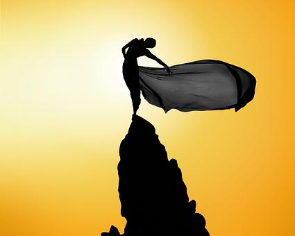 Women, Mountain, Wind, Sun Fabric, Dress, Crag