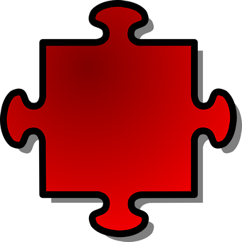 Jigsaw, Puzzle, Game, Shape, Red, Join, Part, Single