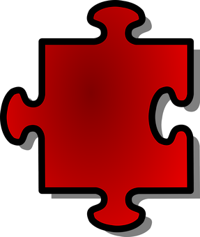 Jigsaw, Puzzle, Game, Piece, Red, Shape, Single, Join