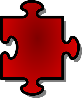 Jigsaw, Puzzle, Shape, Red, Game, Single, Piece, Part