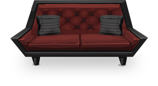 Couch, Sofa, Loveseat, Red, Seat, Seating, Living Room