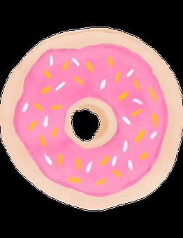 Watercolour Donut, Watercolor Donut