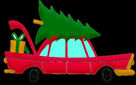 Christmas Car, Christmas, Gifts, Car, Decoration, Auto