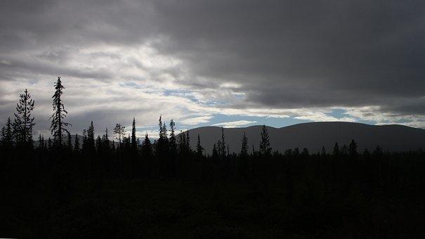 Lapland, Landscape, North, Clouds, Fells, Dark Sky