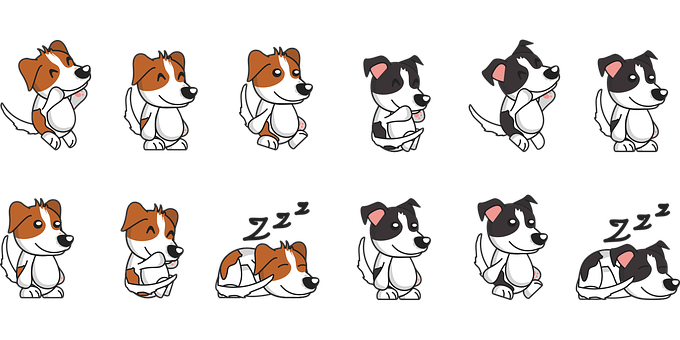 Dog, Comic, Vectors, Cartoon, Animal, Cute, Cheerful