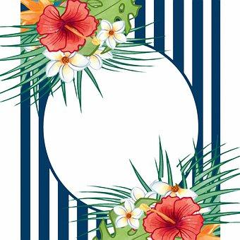 Tropical Floral Background, Flower Digital Paper