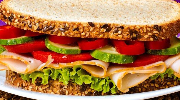 Ham, Breakfast, Sandwich, Food, Bread, Lunch, Nutrition