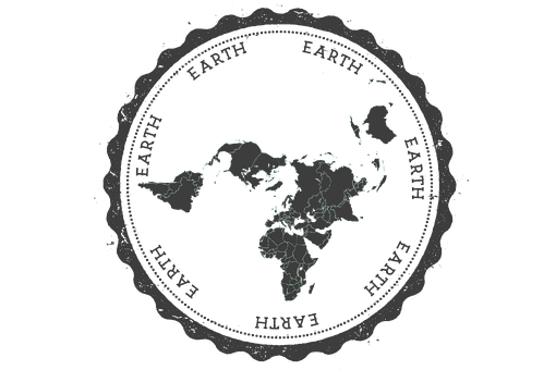 Stamp, Earth, Map, Black, Insignia, Letter