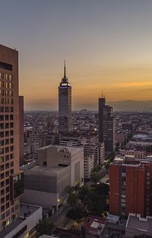 Mexico, City, Sunset, Drone, Sky, Summer, Travel