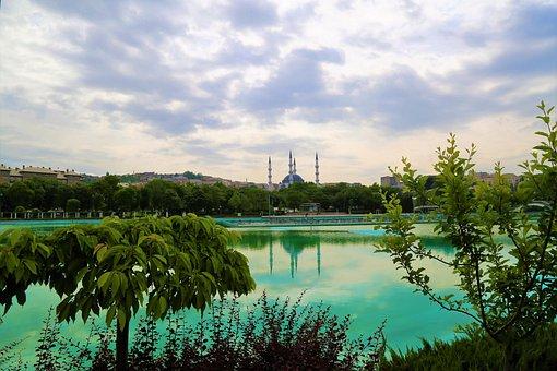 Landscape, Cami, City, The Minarets, Tree