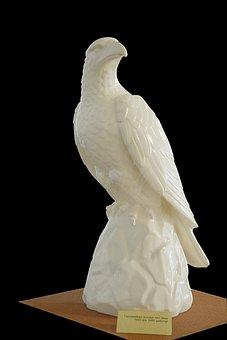 Porcelain Figurine, Adler, Old, Historically, Antique