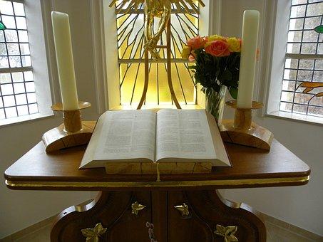 Altar, Pray, Prayer, Bible, Schmiechen, Chapel, Church
