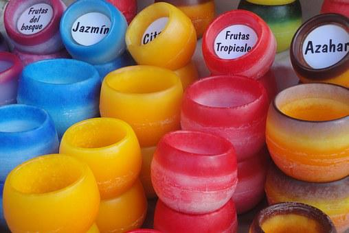 Candles, Aromas, Colors, Aromatherapy, Exhibition