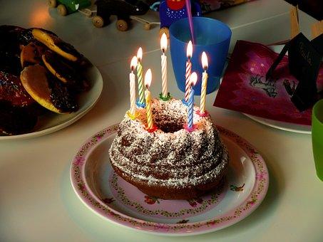 Birthday, Birthday Cake, Candles, Cake, Congratulations