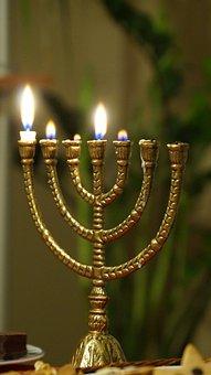 Menorah, Burning, Jewish, Candle, Bible, Light