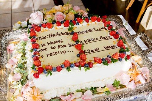 Wedding, Wedding Cake, Marriage, Cake, Bible, Words
